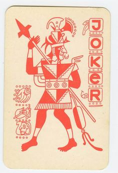 Russian playing cards 11. Mayan motives were popular in Soviet times in Russia.