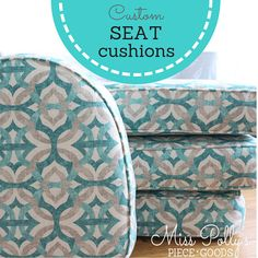 Items similar to Custom Cushions- Bench Cushions- Cushions- Box Cushions- Deck Cushions- Patio Cushions- Chair Cushions- Swing Cushions on Etsy Window Seat Cushions, Patio Cushions, Floor Cushions, Box Cushion, Cushion Fabric, Custom Cushions, Big Girl Rooms, Pillow Forms, Decorative Pillow Covers