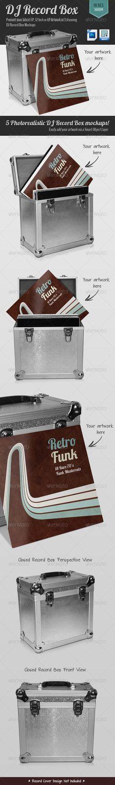DJ Record Box — Photoshop PSD #flight case #record • Available here → https://graphicriver.net/item/dj-record-box/4450323?ref=pxcr