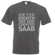 Saab Logo t-shirt Matt Silver logo, Graphite, Black, Navy, Mens & Ladies