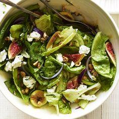 Fig, Hazelnut, and Goat Cheese Salad | MyRecipes