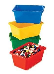 awesome Tot Tutors Primary Colors Small Storage Bins Set of 4 A