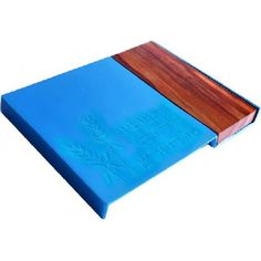 Turquoise Aluminum and Wood Challah Board