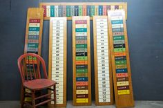 Old Carnival Circus Gambling Boards : 20th Century Vintage Industrial : Modern Fifty