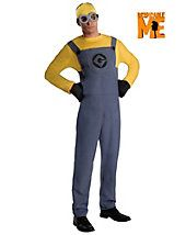 Despicable Me Minion Dave Adult Costume - movie - mens-costumes
