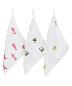 Look what I found on #zulily! Mod About Baby Washcloth - Set of Three #zulilyfinds