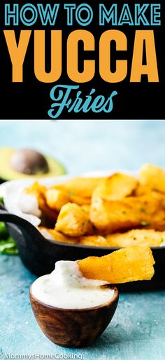 Learn How to Make Yucca Fries and give potatoes a break! These yucca fries are crispy on the outside and creamy and irresistible soft in the inside. Easy to make and perfect to share at a barbecue or party. Yucca Fries, Cooking Recipes, Healthy Recipes, Delicious Recipes, Delicious Dishes, Fun Recipes, Venezuelan Food, Venezuelan Recipes, Health