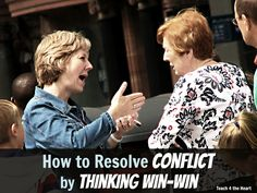 Great advice on how to solve conflict by thinking win win.