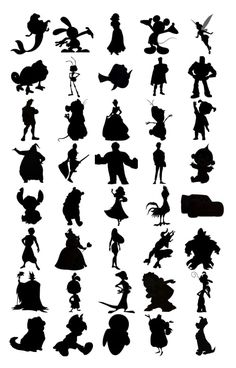 Can You Identify The Disney Characters By Just Their Silhouettes?You can find Disney silhouettes and more on our website.Can You Identify The Disney Characte. Disney Magic, Disney Love, Disney Art, Disney Quiz, Disney Fonts, Disney Games, Virtual Games For Kids, Disney Silhouette Art, Fairy Silhouette