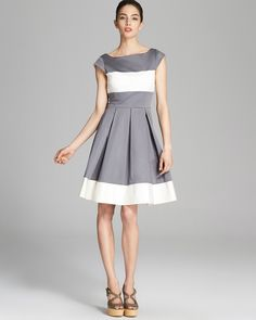 kate spade new york Adette Dress Women - Dresses - Bloomingdale's Love Fashion, Runway Fashion, Pippa Middleton Style, Great Women, Fit Flare Dress, Playing Dress Up, Gray Dress, Dresses Online, Kate Spade