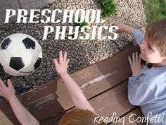 Preschool Physics & Having a Ball with Books ~ Reading Confetti