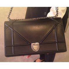 Large black Dior Diorama bag