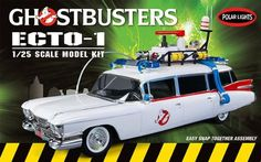 POL914 POLAR LIGHTS - Ghostbusters Ecto-1 - Snap Together Plastic @ niftywarehouse.com #NiftyWarehouse #Geek #Horror #Creepy #Scary #Movies