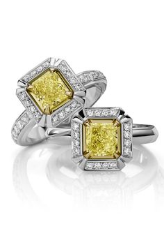 Sun Struck Yellow diamond Rings, $12,300, Musson, Shop 51, Ground Floor, QVB