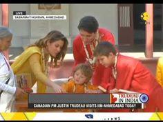 Canadian PM Justin Trudeau visits Mahatma Gandhi's Sabarmati Ashram