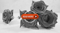 Ribbon Art, Ribbon Crafts, Flower Crafts, May Flowers, Fabric Flowers, Felt Bookmark, Diy Wall Painting, Deer Design, Silk Ribbon Embroidery