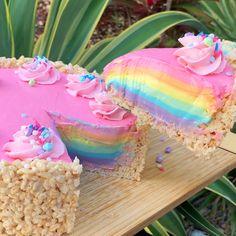Savory magic cake with roasted peppers and tandoori - Clean Eating Snacks Rainbow Cheesecake, Rainbow Desserts, Rainbow Food, Colorful Desserts, Rice Krispies, Cheesecake Recipes, Unicorn Themed Birthday, 5th Birthday, Cake Designs