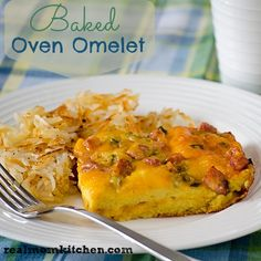 Baked Oven Omelet - Real Mom Kitchen