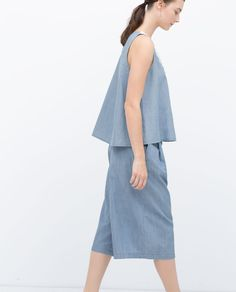 DENIM CULOTTES-Denim-WOMAN | ZARA United Kingdom