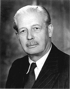 Harold Macmillan. The last British Prime Minister to wear a moustache.