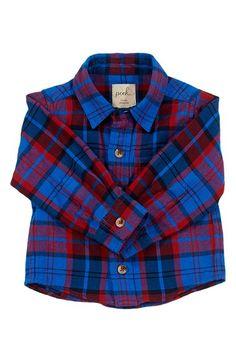 Peek  Burnett  Long Sleeve Plaid Woven Shirt (Baby Boys) available at   995d64ff0