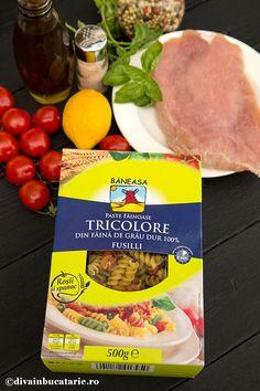 SALATA ITALIANA DE PASTE TRICOLORE CU PUI   Diva in bucatarie Fusilli, Paste, Beef, Food, Meat, Essen, Meals, Yemek, Eten