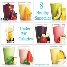 8 Healthy Smoothies Under 250 Calories.