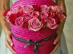 Rose hat boxes