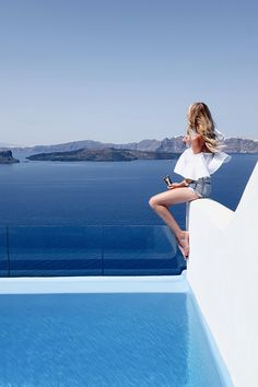 All blue everything, Santorini Santorini Grecia, Mykonos, Travel Pictures, Travel Photos, Ohh Couture, Greece Fashion, Louise Hay, Air France, Greece Travel