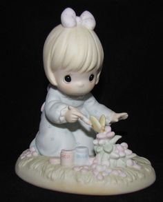 Precious Moments Members Figurine ~ PM-881 ~ God Bless You For Touching My Life
