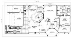 3374 sqft. Luv the Windows!!! :-)  First Floor Plan of House Plan 61346