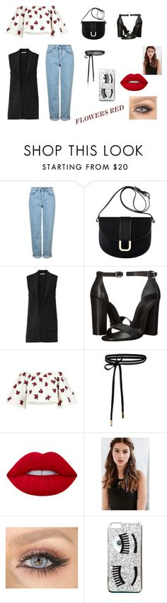 """FLOWERS RED"" by mariana-alicia-gomez-acosta on Polyvore featuring moda, Topshop, A.P.C., Rebecca Minkoff, Schutz, House of Holland, Lime Crime, REGALROSE y Chiara Ferragni"