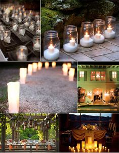 Jars, luminaries and lanterns.