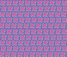 pink crosses fabric by jenr8 on Spoonflower - custom fabric