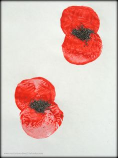 Looking for a craft to mark Remembrance Day? How about these Poppy Prints made with poppy seeds. To make our poppies we sliced . Poppy Day Activities Eyfs, Playgroup Activities, Outdoor Activities For Kids, Preschool Crafts, Children Activities, Remembrance Day Activities, Remembrance Day Art, Crafts For Boys, Art For Kids