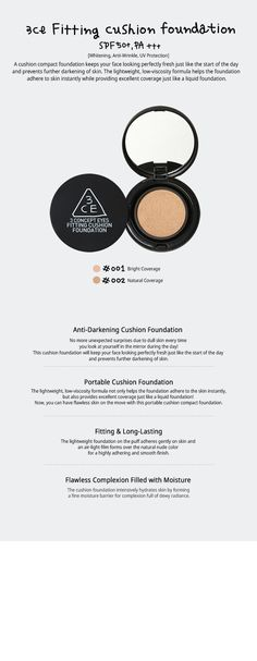 3CE FITTING CUSHION FOUNDATION | STYLENANDA
