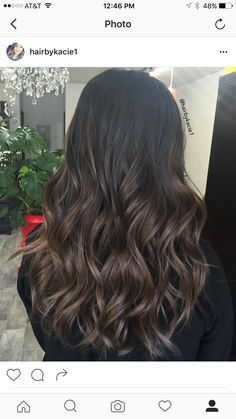 Luscious Balayage With Subtle Purple Tones - 20 Stunning Examples of Mushroom Brown Hair Color - The Trending Hairstyle Brown Hair Balayage, Brown Blonde Hair, Balayage Brunette, Hair Color Balayage, Brunette Hair, Hair Highlights, Bayalage On Dark Hair, Brunette Highlights Lowlights, Dark Balayage
