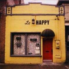 Le Happy, Portland, OR. Home of the only crepe to be filled with American cheese and served with a PBR. Mmm. Trashy. http://onthestreetwhereyoulive.tumblr.com/post/5156964059/only-in-portland