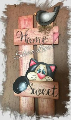 Dog Crafts, Snowman Crafts, Country Paintings, Dog Paintings, Arte Pallet, Wood Projects, Craft Projects, Cat Paw Print, Bazaar Ideas