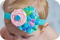 Rolled Rose Headband Easter Headband Baby by spoiledNsweet on Etsy,