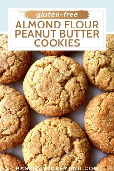 Almond Flour Peanut Butter Cookies-These gluten-free almond flour peanut butter cookies are soft and chewy in the middle, crispy at the edges. They are delicious and easy to make. You'll love this cookie recipe that is very filling. Gluten Free Peanut Butter Cookies, Chocolate Peanut Butter Cookies, Almond Cookies, Easy Baking Recipes, Easy Cookie Recipes, Sweet Recipes, Short Bread, Easy Sweets, Almond Flour Recipes