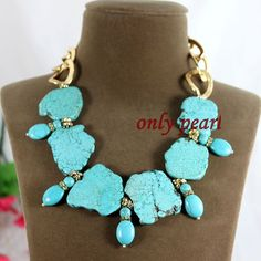 Free Shipping Green Turquoise Necklace 1920inch by OnlyPearl, $26.00