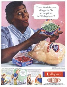 Racist Du Pont cellophane ad 1940