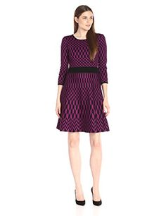 Taylor Dresses Womens Geo Print Sweater BlackViolet Medium *** Read more  at the image link. (This is an affiliate link and I receive a commission for the sales)