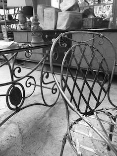 Marseille chair and French console all hand forged in our studio. Quality galvanised steel/wrought iron so it will last in any weather conditions. Only from Le Forge Furniture And Decoration