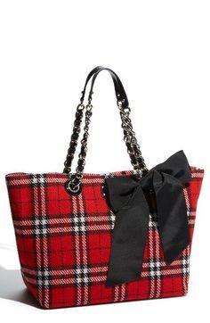 kate spade new york 'fireside plaid - small coal' shoulder bag