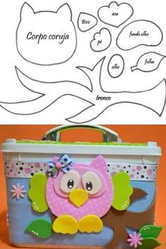 Manualidades con fieltro/ hooters with felt Owl Crafts, Crafts For Kids, Arts And Crafts, Paper Crafts, Craft Projects, Sewing Projects, Owl Templates, Applique Templates, Applique Patterns
