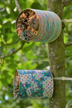 Earth Day Crafts For Kids Preschool Projects Bee Crafts, Garden Crafts, Garden Projects, Garden Art, Crafts For Kids, Insect Crafts, Wood Bird Feeder, Bird Feeders, Bug Hotel