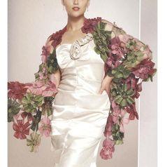 (4) Name: 'Crocheting : Crochet flower motifs shawl.ThePC.