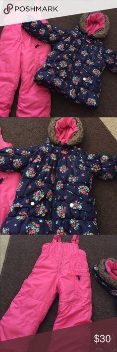 Girls Snow Pants & Matching Jacket Girls size M/5-6 Carter's Snow Pants and Matching Winter Jacket. EUC. Carter's Jackets & Coats